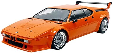 Minichamps M1 Plain Body Version 1979 43112 BMW Fahrzeug Miniatur, 125792900, orange, Maßstab 1/12