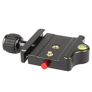 Sirui MP-20 Schnellwechselbasis (Alu, 1.4 Zoll und 3.8 Zoll, 78 x 56 mm, 78 g) schwarz