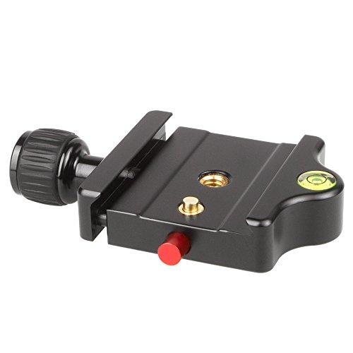 SIRUI MP-20 Schnellwechselbasis (Alu, 1/4 Zoll und 3/8 Zoll, 78x56mm, 78g, für SIRUI und Arca-Swiss-Platten) schwarz