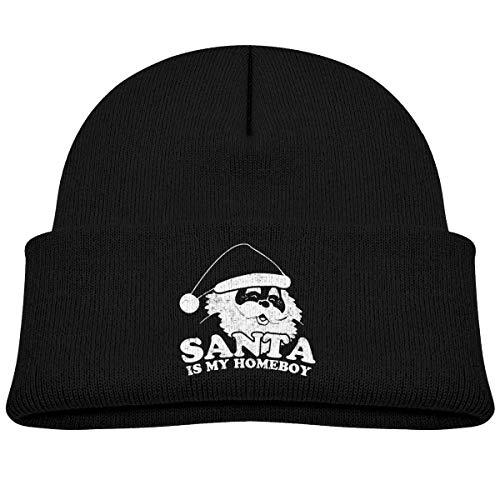 UUOnly Santa ist mein Homeboy Beanie Mütze stricken Mützen Baby Girls - Homeboy Cap
