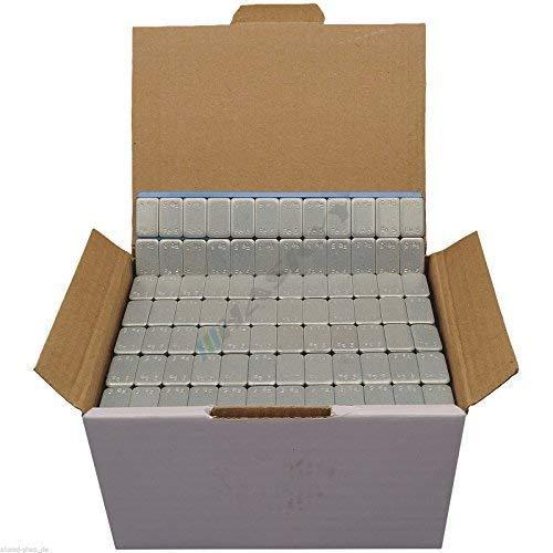 50 Klebegewichte Auswuchtgewichte Stahlgewichte I 50x Kleberiegel aus Stahl 12x5g I für Alufelgen selbstklebend I verzinkt & kunststoffbeschichtet