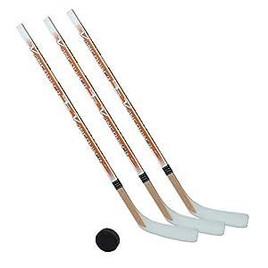 Eishockeyschläger-Set Kids 3: 3 Vancouver-Schläger 95cm gerade Kelle & Puck …