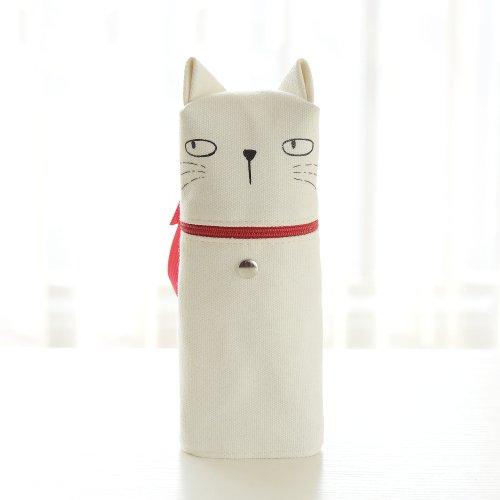 EgBert Kawaii Emoticon Printing Cute Cat Pencil Box Big Capacity Pen Case School Supplies - #02