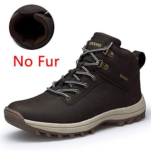 FHCGMX Hommes Bottes Grande Taille 39-47 Hommes Bottes d'hiver À Lacets Casual Cheville Bottes De Neige Hommes Mode Baskets Chaussures De Travail Homme