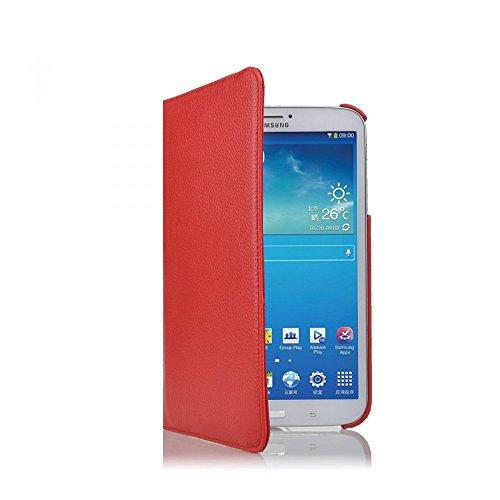 COOVY® Cover für Samsung Galaxy TAB 3 8.0 SM-T3100 SM-T3110 SM-T3150 SM-T310 SM-T311 SM-T315 ROTATION 360° SMART HÜLLE TASCHE ETUI CASE SCHUTZ STÄNDER | Farbe rot