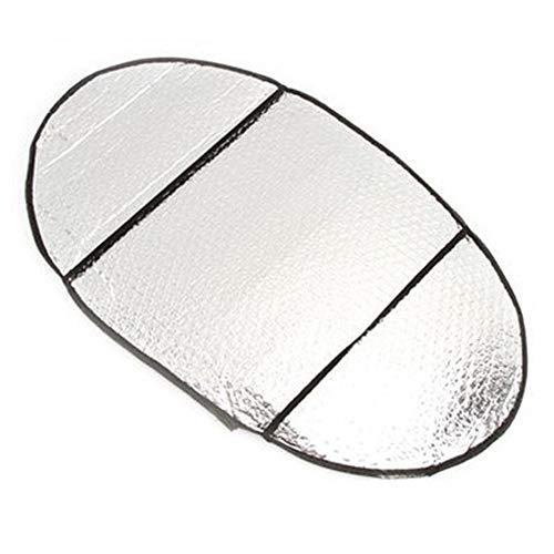 JoyFan 1 Stück Motorrad-Sitz Sonnenschutz Kissen Wasserdicht Reflektierende Aluminiumfolie Folie Isolierung Pad, Silber, 62 * 37 * 0.5cm