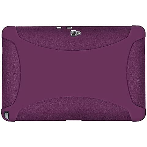 Amzer Silicone Skin Jelly Case Cover for 10.1 inch Samsung Galaxy Note GT-N8000/N8010 - Purple