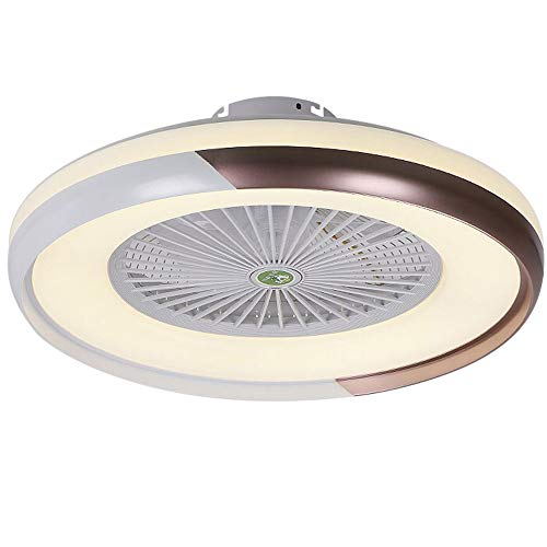 Lixada Deckenventilator mit Beleuchtung LED-Licht Stufenloses Dimmen Einstellbare Windgeschwindigkeit Fernbedienung Ohne Batterie Moderne LED-Deckenleuchte für Schlafzimmer Wohnzimmer Esszimmer
