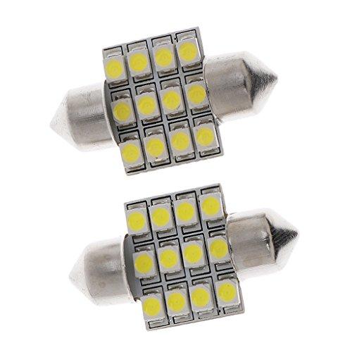 HSUN T4.2 Lot de 10 ampoules LED SMD1210 20 lumens extr/êmement lumineuses pour tableau de bord de voiture et tableau de bord Blanc 6000 K
