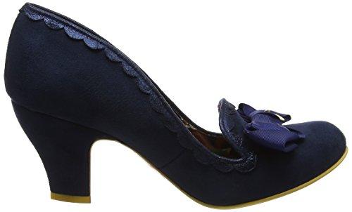 Irregular Choice Donna Kanjanka Closed-Toe Tacchi Blue (Navy)