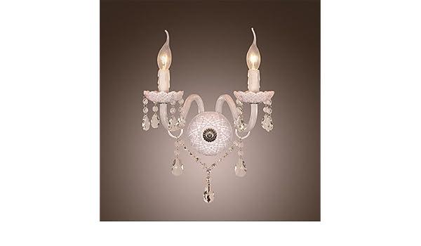 Applique da parete in cristallo con luci a bulbo di candela