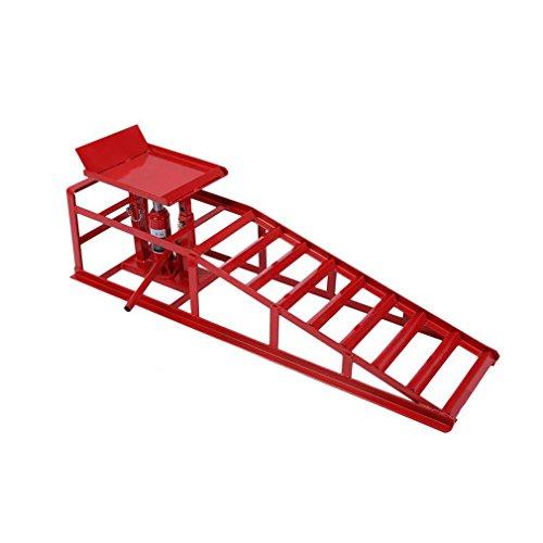 Blackpoolal Rampes de Levage 2 Tonnes Rampe pour Quai de Chargement pour Voiture Rampes Hauteur Réglable, 2T/2000 kg (Gauche)