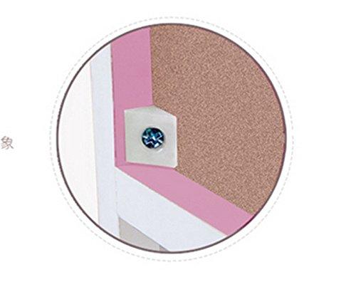 Librería, Estantería Cómodas de color rosa Cuatro capas