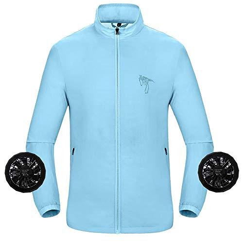 APENCHREN Men Cooling Fan Jacket, Arbeitskleidung/Klimakleidung, Arbeitskleidung - für Overalls mit hohen Temperaturen, Outdoor-Sonnenschutzkleidung,C-XL -