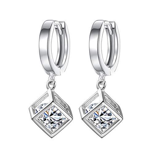 Mypace 925 Silber Gold Set Creolen hängende Ohrringe Für Damen Mode Temperament Damen Kubikzircon Ohrclip Damen Ohrschmuck -
