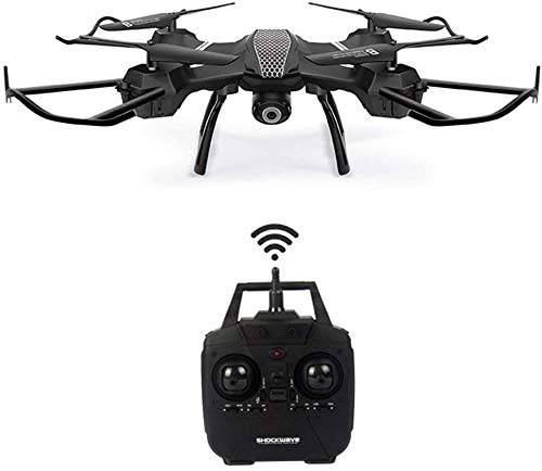 WiFi FPV Version Drohne mit HD Kamera, RC Quadcopter, Headless RTF für Höhenlage, 3D Flips & Rolls 6-Achsen Gyro, 4CH 2.4Ghz Fernbedienungshubschrauber, Höhenlage stabil
