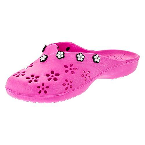 2Surf Damen Pantoletten Sandalen Latschen Strand Clogs Pantoffel in Vielen Farben. M315pi Pink Gr.36 (Strand Sandalen Clogs)