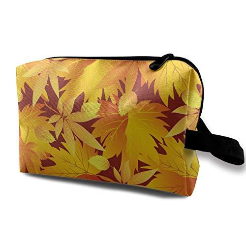 Patent-tasche Auf Der Vorderseite (Herbstlaub Kosmetiktaschen Make-up Veranstalter Tasche Reißverschluss Geldbörse Handtasche Clutch Bag)