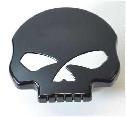 Bouchon de réservoir d'essence noir modèle Skull pour Harley Davidson
