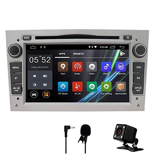 Auto Stereo Android 8.1 Radio DVD Player GPS NAVI 7 Inch IPS 2 Din Fits für Opel Antara Vectra Crosa Vivaro Zafira Meriva mit Rear Camera Support Bluetooth WIFI 4G Spiegel Link USB SWC OBD (Silber) (Radio Auto Dvd)