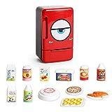 OviTop Haushaltsspielzeug Kinder, Kinderküche Spielzeug Haushalt Simulation Geräte für Kinder Rollenspiele - Kühlschrank