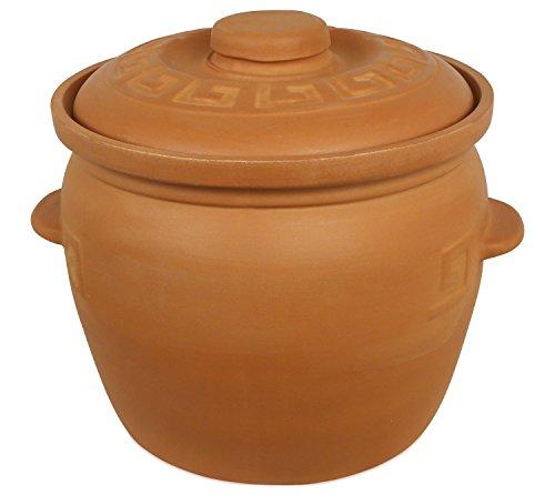 K&K Keramik Pot en céramique en terre cuite non émaillée 7litres