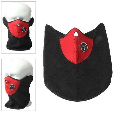 Smart Protector (Smart Protector Motorrad Maske / Outdoor Maske / Maske mit Ventilations Ring / Fahrrad Maske in rot schwarz)