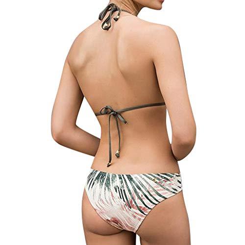 Bfmyxgs Sexy Frauen Mädchen Bademode Mode Bikini Print Zweiteilige Stilvolle Badeanzug Tankini Beach Badeanzug Monokini Sets Tankini Sets Beachwear Charming Baden Bikini -