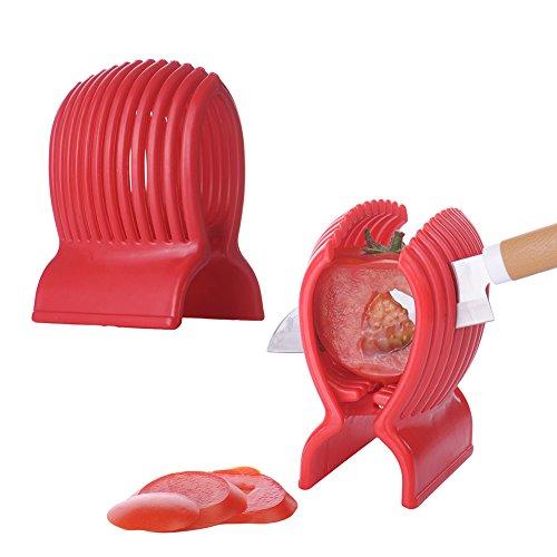 Per, affetta pomodori, patate, cipolle, limoni, strumento per affettare con sistema a manico fisso, ideale per affettare frutta e verdura