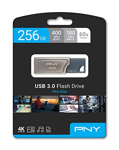 Pny Pro Elite USB 3.0 256GB Pen Drive (Silver)