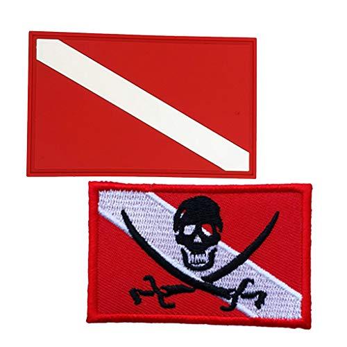 MagiDeal 2 Piezas De Buceo Buceo Dive Diver Down Flag