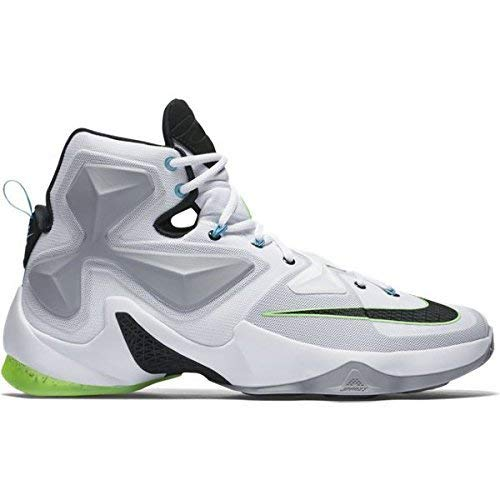Nike Herren Lebron XIII Basketballschuhe, Blanco (White/Black-Wolf Grey-Vltg Grn), 43 EU