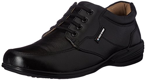 Red Chief Men's Black Leather Boat Shoes - 10 UK/India (44 EU) (RC1367A 001)