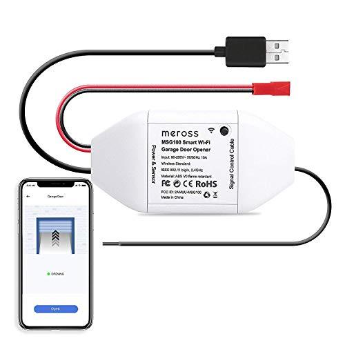 Meross Smart Garage Door Opener Kit Remote Control Existing Garage Opener  by Smartphone Compatible with Amazon Alexa Google Home IFTTT