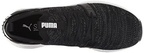 PUMA Men s Nrgy Neko Engineer Knit Sneaker  Black-Iron Gate  10 M US