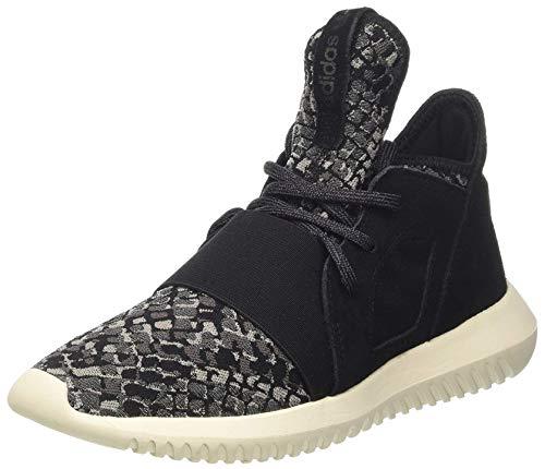 adidas Originals Tubular Defiant Damen Lauftrainer/Schuhe-Black-43 1/3 - Adidas Womens Low Cut Sock