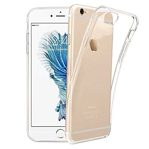 iPhone 6S Schutzhülle, iPhone 6 Handy, Crystal iPhone 6S Hülle Ultra Dünn Kratzfest Anti-Shock Silikon Flexibel Gel TPU Bumper Case für iPhone 6 / iPhone 6S Cover - Transparent ()