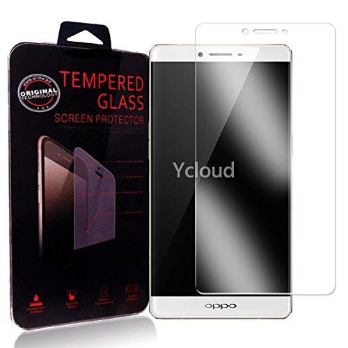 Ycloud Panzerglas Folie Schutzfolie Bildschirmschutzfolie für Oppo R7 Plus (6.0 Zoll) screen protector mit Härtegrad 9H, 0,26mm Ultra-Dünn, Abger&ete Kanten