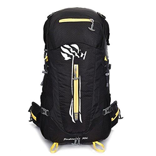 LQABW Große Kapazitäts-Bergsteigen Rucksack Mit Stent-Reisen Wasserdicht Reduced Erdbebensicher Rucksack Tasche Black