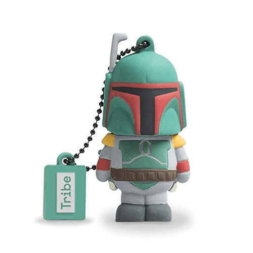Tribe Disney Star Wars Boba Fett - Memoria USB 2.0 de 8 GB Pendrive Flash Drive de Goma con Llavero