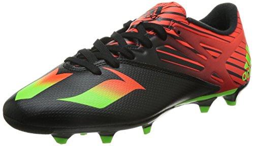 adidas Messi 15.3 Fg/Ag - Scarpe da Calcio Uomo, Multicolore (Core Black/Solar Green/Solar Red), 46 EU