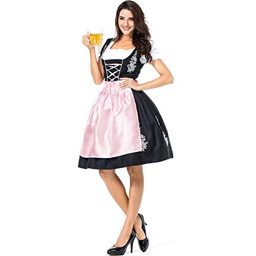 COSOER Deutsche Oktoberfest Damenbekleidung Bar Promotion Performance Kostüm Pink Embroidered Beer Girl - Deutsche Bar Girl Kostüm