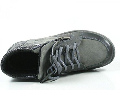 Manitu 991076 Scarpe Da Donna Stivali Stivali Grigi