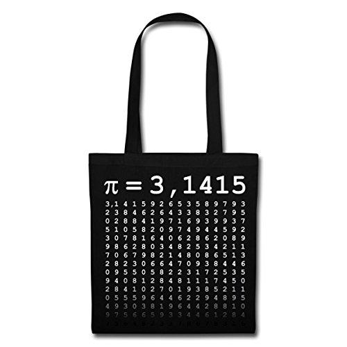 Spreadshirt Pi - 3,1415 Stoffbeutel Schwarz
