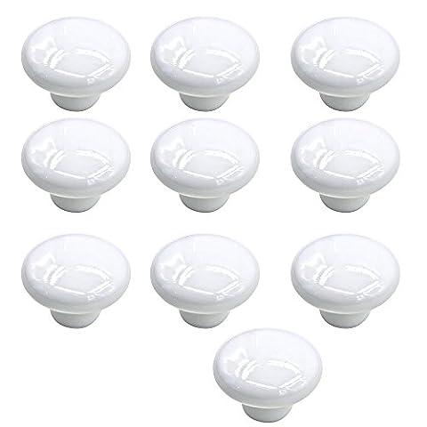 Bouton Porte Gosear® 10 PCS Petite Céramique Pull de Couleur