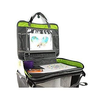 Premium Reisetisch für Kinder | Knietablett - Esstisch - Spieletisch - Maltisch | Kinderwagen - Auto - Zug - Flugzeug