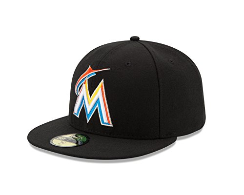 Baseball cap new era bonnet pour adulte authentic mLB miami marlins 59 fifty fitted Bleu - Bleu/rouge