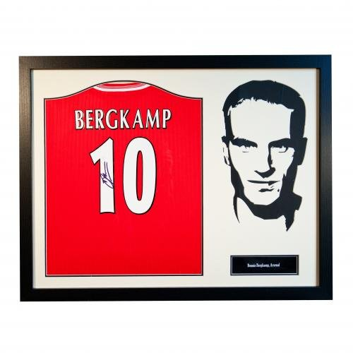 Denis-Bergkamp-Framed-Signed-Arsenal-FC-Shirt-Silhouette