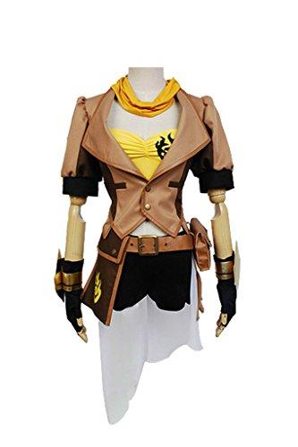 Fuman RWBY Yellow Gelb Trailer Yang Xiao Long Cosplay Kostüm M