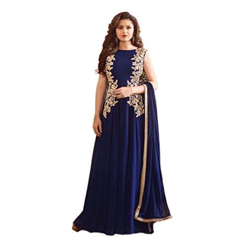 Blue Colour Latest Indian Designer Anarkali Salwar Kameez Dress for women &...